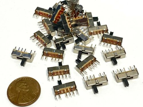 20 pieces SK13D07VG4 4pin Mini micro small tiny Slide Switch PCB on off 1P3T B5