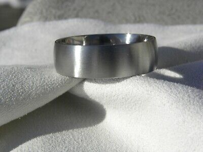 Low Dome Band (Titanium Ring, Brushed Finish, Low Profile Dome Band, 8mm, Made to Order )