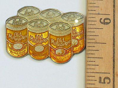 Old Milwaukee Beer 6-Pack Vintage Beer Pin