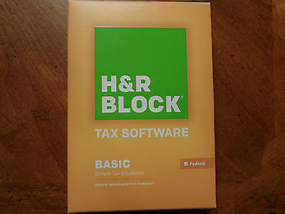 2015 H R Block Basic 1040 Federal Turbo Formely Tax Cut New Cd In The Box