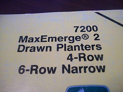 John Deere Operators Manual 7200 Maxemerge 2 Drawn Planters 4row 6row Narrow