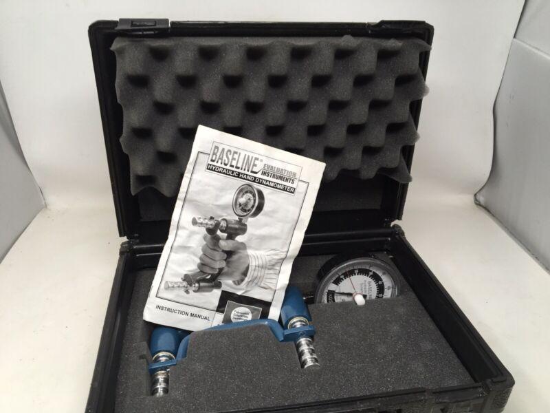 Baseline Hydraulic Hand Dynamometer 200 Lb Capacity + Padded Case + Instructions
