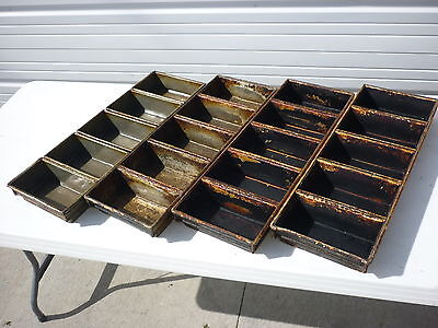 Bakery Bread Strap Pans Lot 4 5-strap 8.5 Loaf Loaves Chicago Metallic 91-4