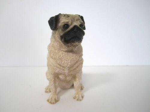 Fawn Pug Figurine 2002 Living Stone