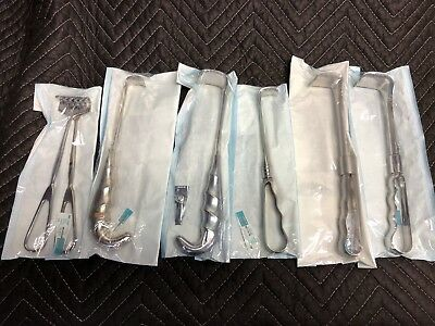 Lot Of 7 Retractorssurgicalstainless Steel Assorted Models Used