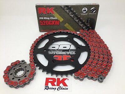 Red 2016-17 Yamaha XSR900 RK GXW520 16/45 OEM Ratio Chain and Sprockets Kit comprar usado  Enviando para Brazil