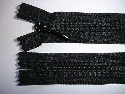 RV412 Reißverschluß YKK schwarz 18cm lang, nicht teilbar 2 Stück