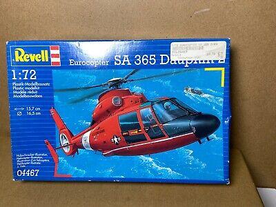 Revell 1:72 Eurocopter SA 365 Dauphin 2 Plastic Aircraft Model Kit 04467U