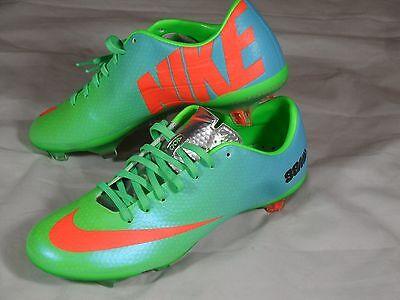 7f9a2fb05 New Nike Mercurial Vapor IX FG Soccer Cleats Boots 98M size 6 Green Blue  555605