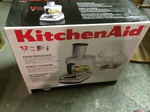 BNIB KitchenAid 12 cup Food Processor in Chrome