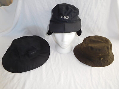 Lot 3 OR Outdoor Research Sombrero Bucket Hat Cap Liner Pendleton Medium Large - Large Sombrero