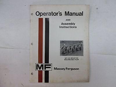 Massey Ferguson 345 Mounted Moldboard Plow