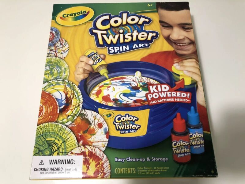 Crayola Color Twister Spin Art Kid Powered Drip Paint Washable