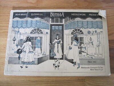 "Bucilla 1917 Needlework Products Bernhard Ulmann Co.  13""x10"" New York"