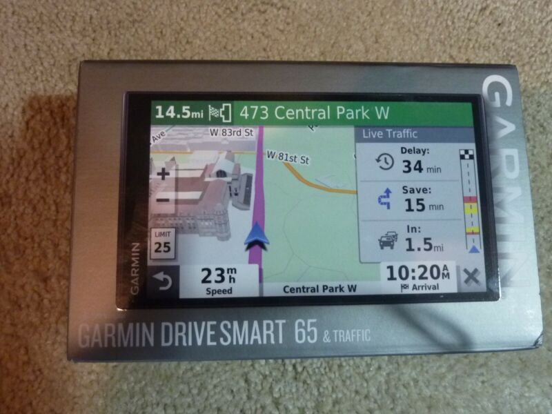 "Garmin DriveSmart 65 6.95"" GPS System with Real-Time Traffic - 010-02038-02"