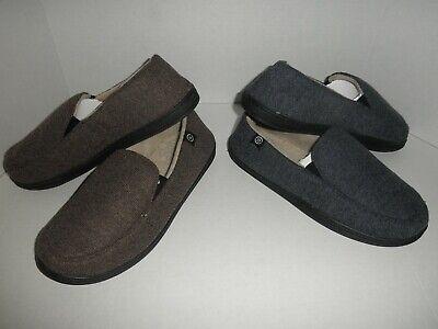 NWOB Mens ISOTONER Gel Memory Foam Slipper Bedroom Shoes M,  L, XL   8 colors