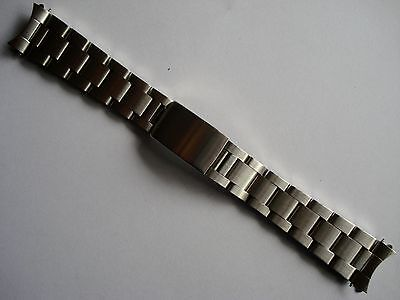 19MM BRUSHED STAINLESS STEEL OYSTER BAND BRACELET FOR ROLEX OLD EXPLORER WATCH N