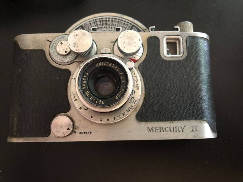 Vintage Mercury II Camera Model CX (with case)