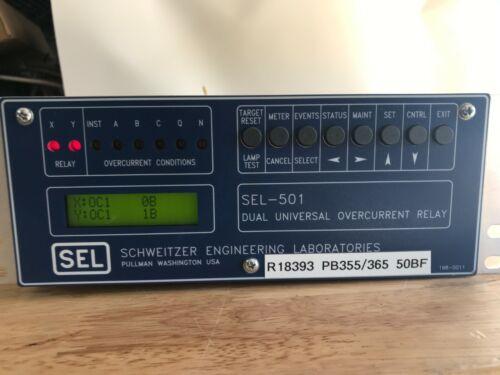 SEL-501 Schweitzer Dual Universal OverCurrent Relay 0501002X561XXB