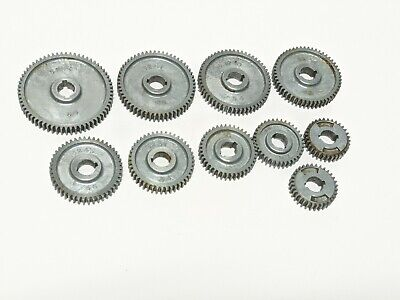 10 Piece Sears Atlas Craftsman Dunlap 109 6 Metal Lathe Change Gears