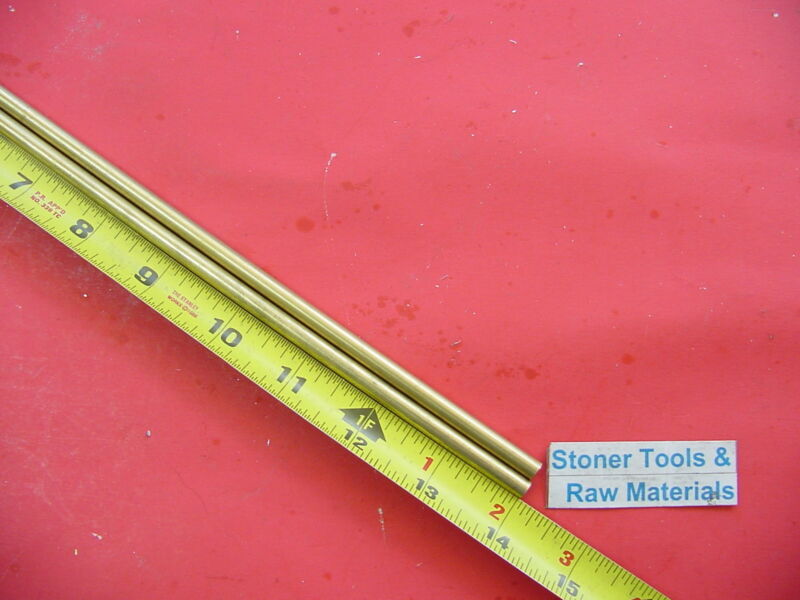 """2 Pieces of 5/16"""" C360 BRASS SOLID ROUND ROD 14"""" long Lathe Bar Stock .312 OD"""
