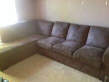 4 Seater Suede Bown Couch $400 Near New Cond. Mount Nasura Armadale Area Preview
