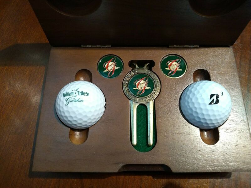 Greenbrier Resort Hotel Sam Snead Spring Festival Solid Walnut Box Golf Gift Box