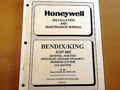 Honeywell Bendix King KGP 860 GA-EGPWS  Install & Ramp maintenance manual