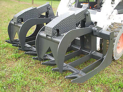Bobcat Skid Steer Attachment - 72 Severe Duty Root Grapple Bucket - Ship 199