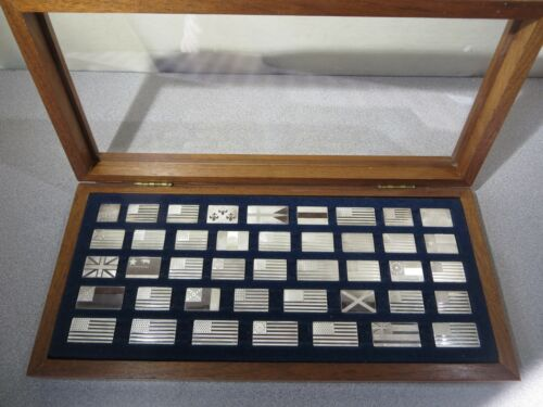 Franklin Mint Great Flags Of America Sterling Silver - 42 Piece Set -1974