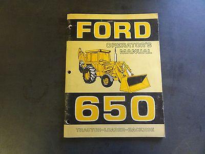 Ford 650 Tractor-loader-backhoe Operators Manual