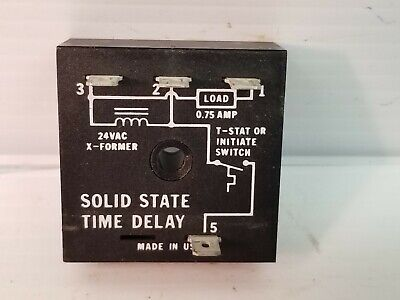 Time Delay Relay Sold State 24 Vac 15sec 3 Sec 0.75a