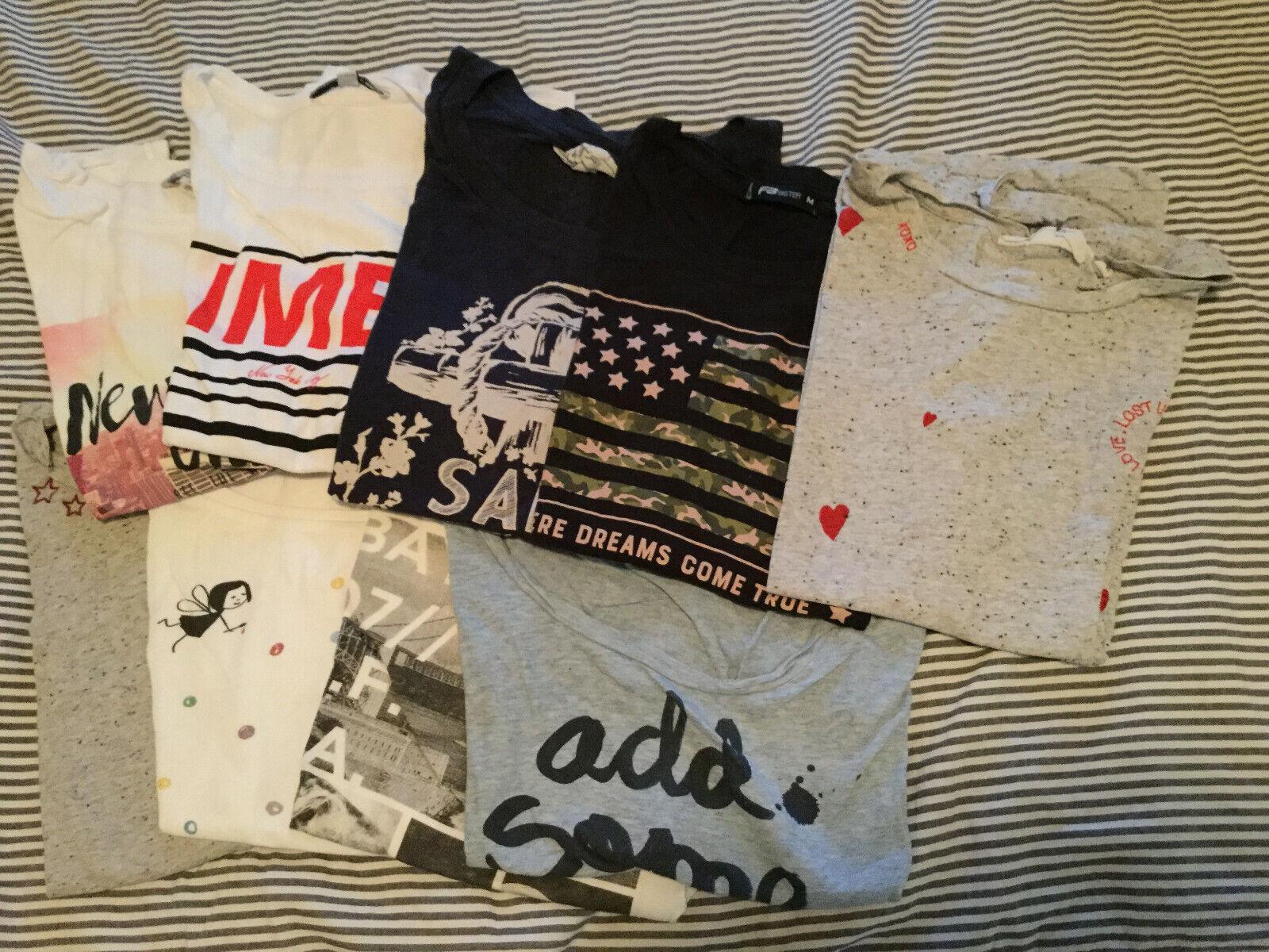 9 T-Shirts Damen Bekleidungspaket verschiedene Marken Gr. S/M