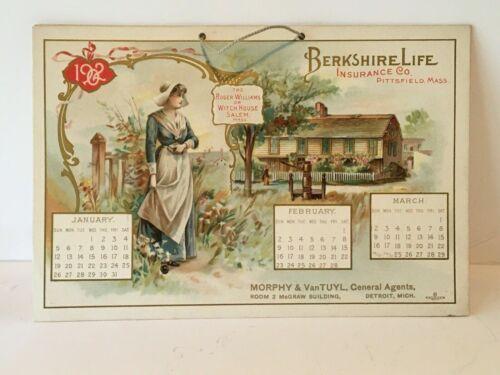 Vintage 1902 Calendar Berkshire Life Insurance - Great Artistic Prints Forbes