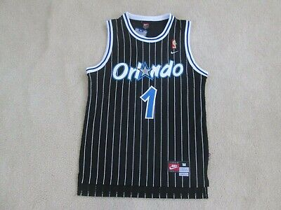 NBA Orlando MAGIC 'THROWBACK' #1 PENNY HARDAWAY Stitch Black Jersey Men M NEW!