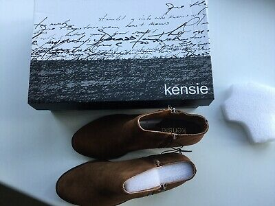 Brand New  Brown Suede Ankle Boots Size 37.5/5 124