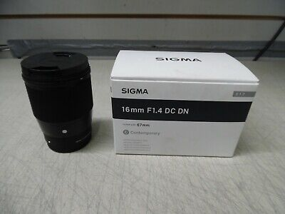 SIGMA 16mm f/1.4 DC DN Contemporary Lens for Sony E- Mount