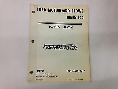 Ford Fordson Tractor Series 132 Moldboard Plow Parts Book