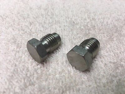 Soda System Fittings Lancer Stainless Fitting Plug 14 Male Flare Set Of 2