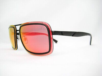 new authentic VERSACE Sunglasses VE2183 12616Q Black / Red Flash Mirror 63mm (Versace Sunglasses Men Cheap)