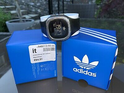 Adidas Denver Sill Watch 54, Black Unisex Classic ( ADH3033 ) + Spare Strap