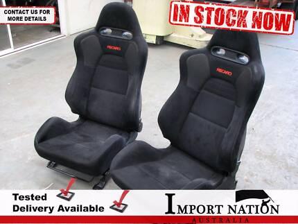 Mitsubishi Colt Recaro Cloth Seats Pair Front - Set 2 - EVO 8 MR