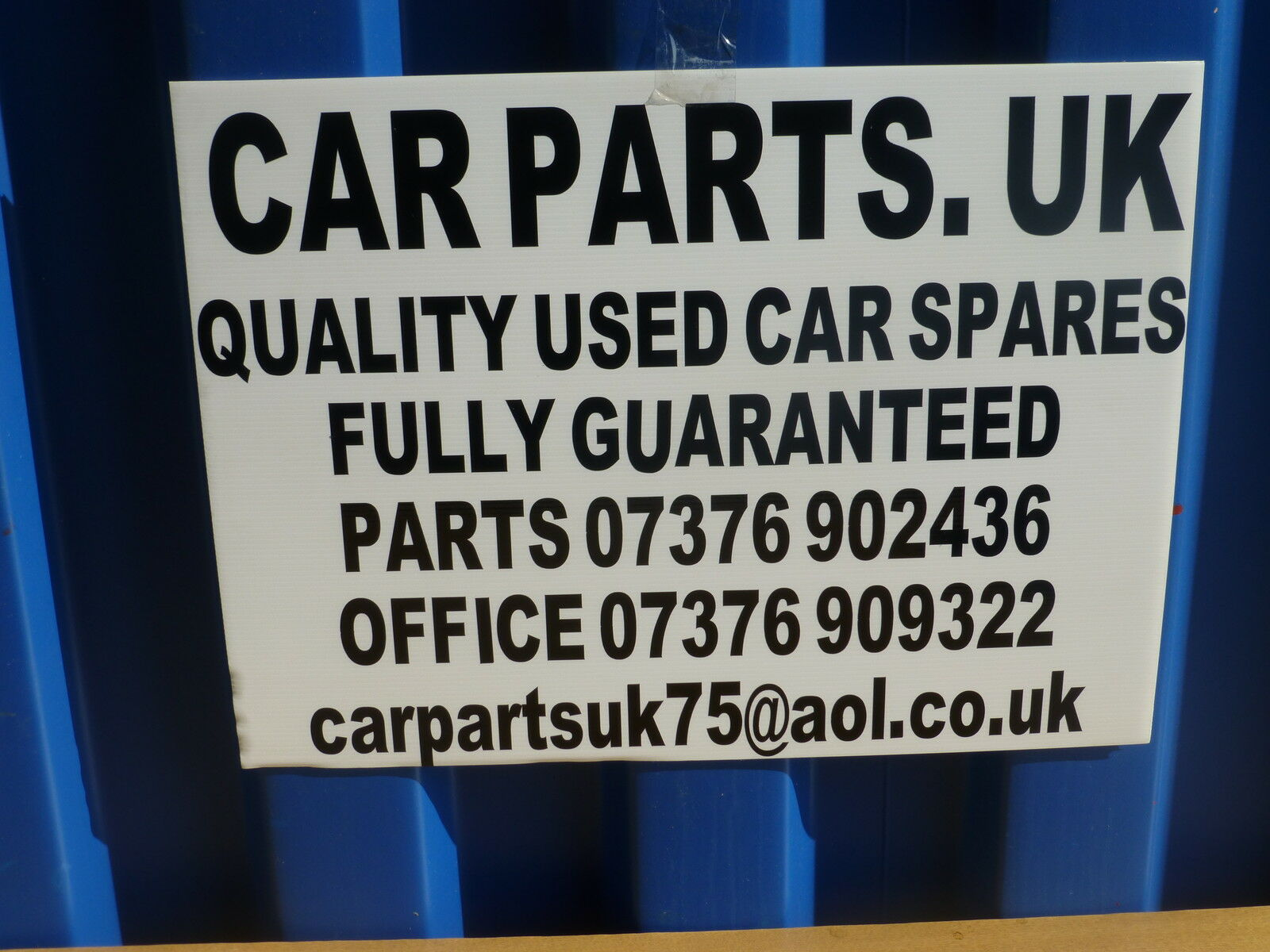 Car Parts Uk Used