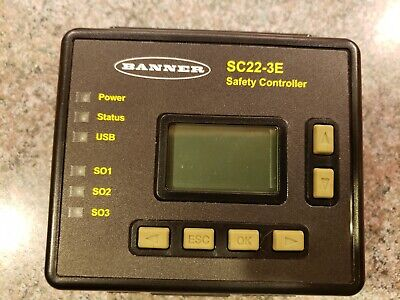 Banner Safety Controller Sc22-3e Programmable