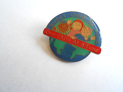 Cool Vintage 1999 Teachers Change the World One Child at a Time Pin Pinback