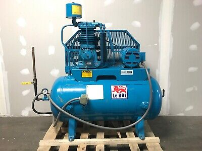 Leroi 3hp 60 Gallon Two-stage Compressornew Heads Bearings Gasketsships Free