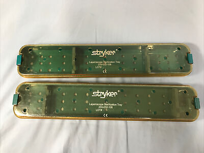 Stryker Laparoscope Sterilization Tray 233-032-108 17x1.5x3.2 Lot Of 2