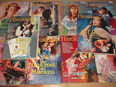 Historische Liebesromane - 10x Historical  aus 1993 bis 2004 - Titelliste bk326