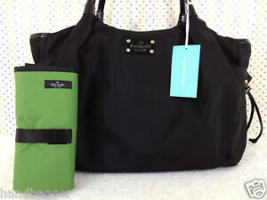 KATE SPADE STEVIE BABY BAG CLASSIC BASIC BLACK NYLON DIAPER BAG NEW WKRU1370 NWT