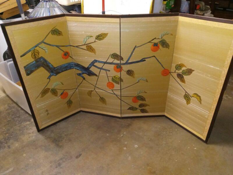Japanese Folding Screen * 4 panel Watercolor on Silk